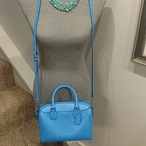 LNWOT Bright Blue Authentic Coach Purse